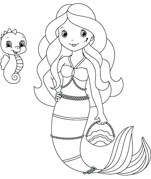 Coloring Pages Of Pencils Mermaids Plus Free Mermaid Page ...