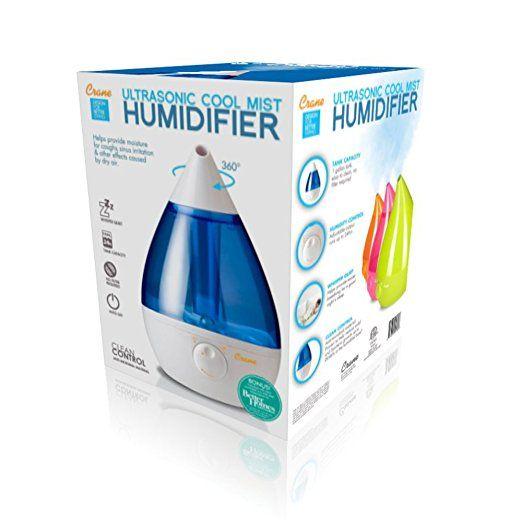 Amazon Com Crane Usa Humidifiers Blue And White Drop Ultrasonic Cool Mist Humidifier 1 Gallon A Best Humidifier Ultrasonic Cool Mist Humidifier Humidifier