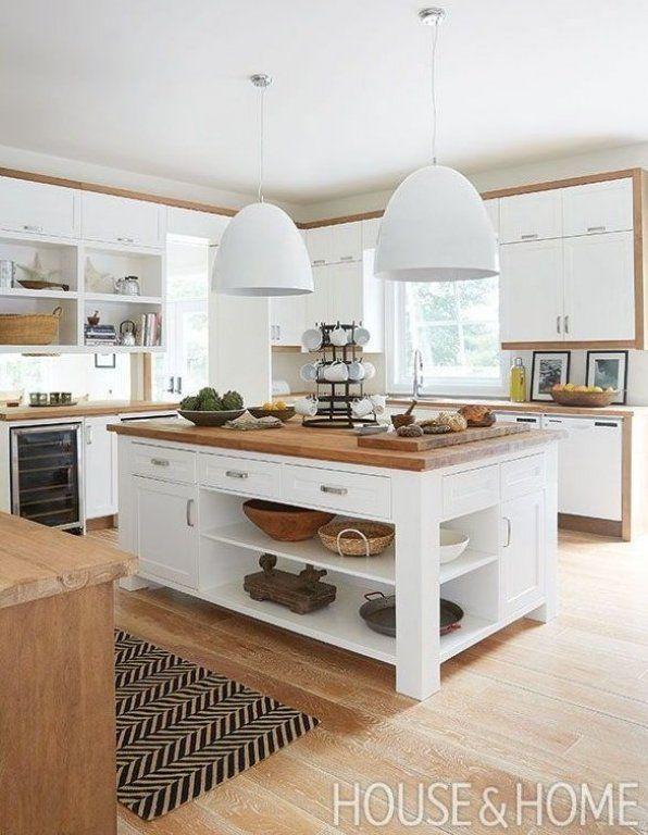 K che Ideen Einrichtung mit Holz offene K che wei  in 2020   Kitchen design small, Contemporary ...