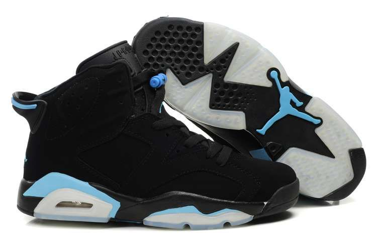 0d35c9c41238e3 black and light blue jordan retro 6 s  jordans  sneakerhead ...
