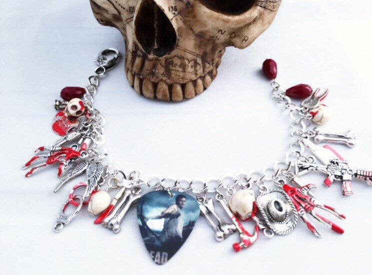 A personal favourite from my Etsy shop https://www.etsy.com/uk/listing/265537410/walking-dead-charm-bracelet-gift-for-her
