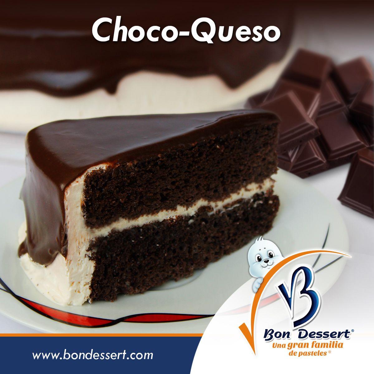 El pastel de Choco-Queso de #BonDessert lleva pan de chocolate ...