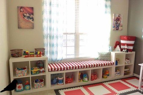 Ikea Cube Storage Kids Window Seats 21+ Trendy Ideas – Image 2 of 21 #bedroomstorageideas