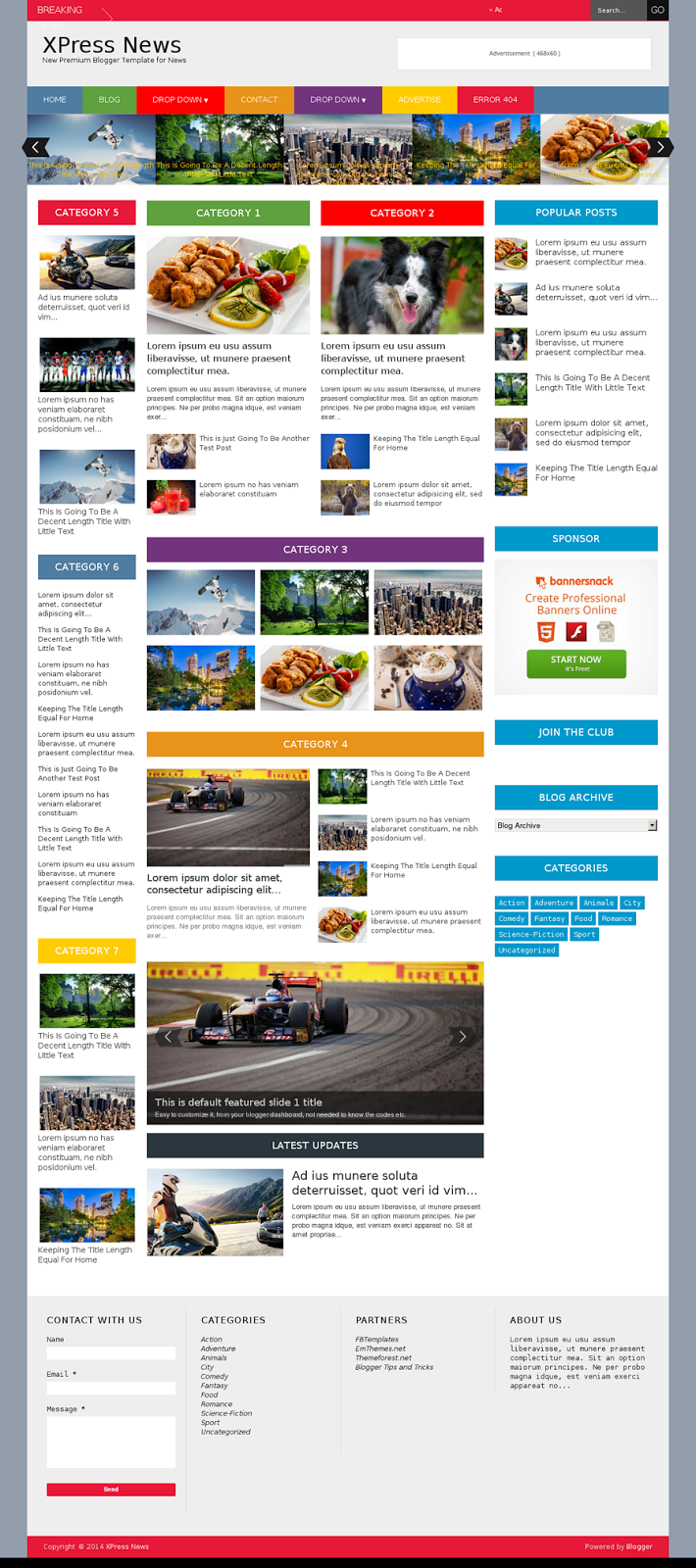 XPress News - Responsive Blogger Magazine - Download! New Themes and ...