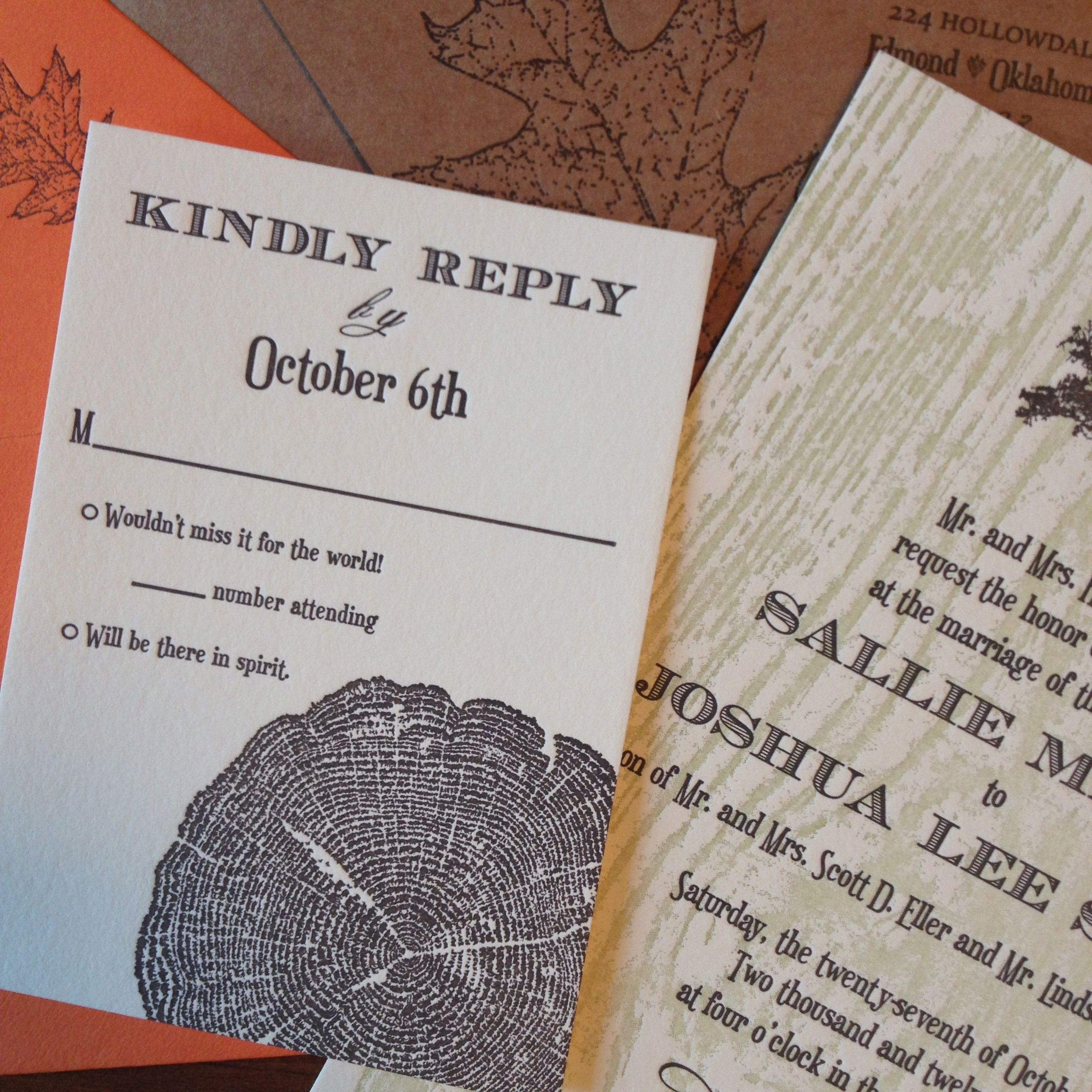 Miller Letterpress Wedding Invitation From Alice Louise Press