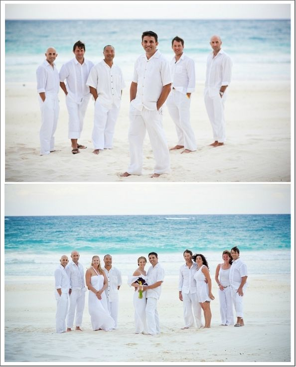 Mens Beach Wedding Attire Ideas Black is not so suitable for daytime ...