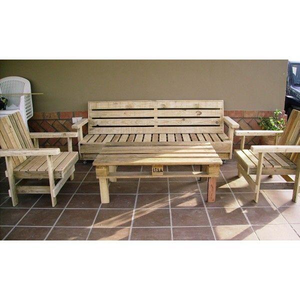 Mesa sillas terraza tienda muebles con palets - Muebles de terraza con palets ...