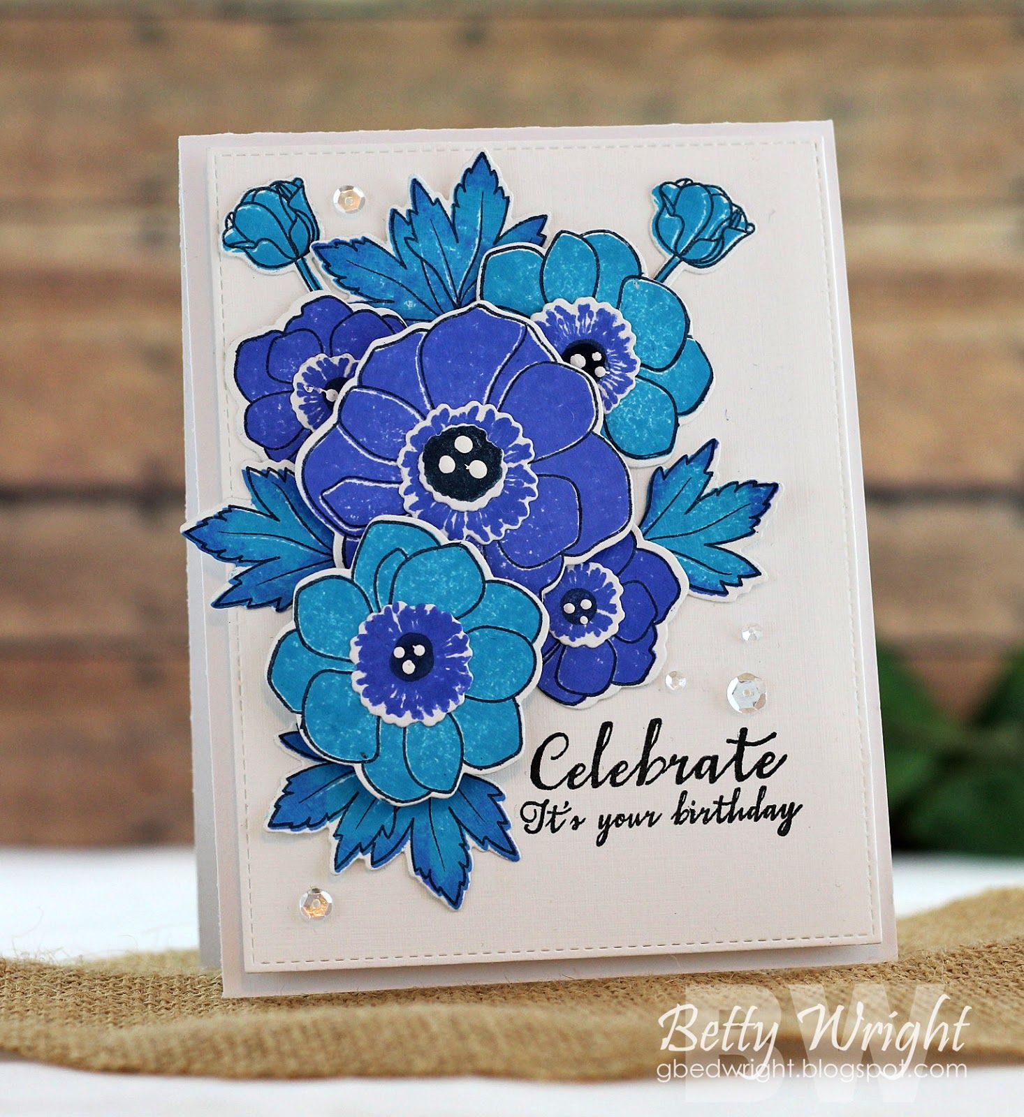 Crafting With Betty Celebrate And Just My Type Birthday Cards