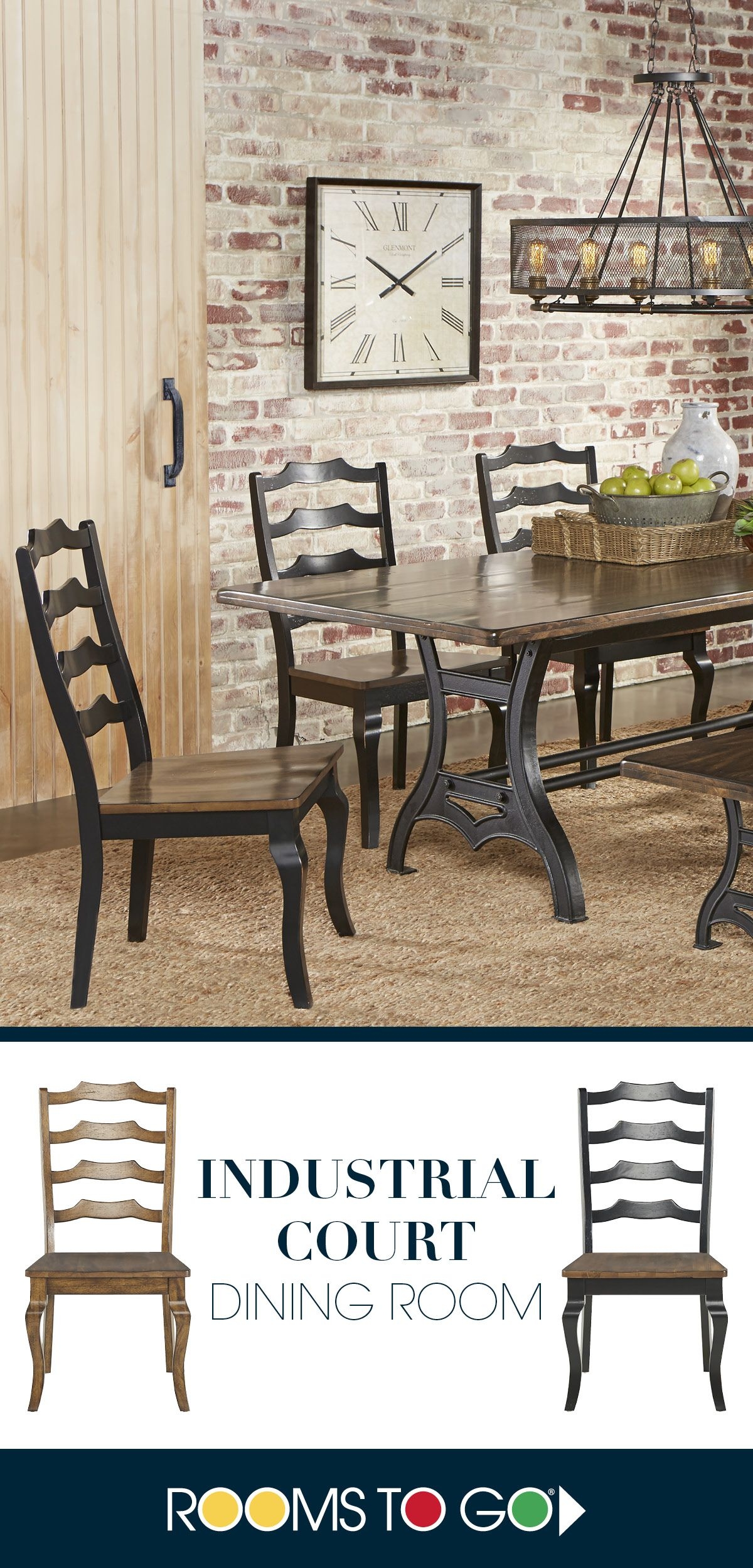 Perfect for any setting the Industrial Court collection adds effortless charm to your dining room