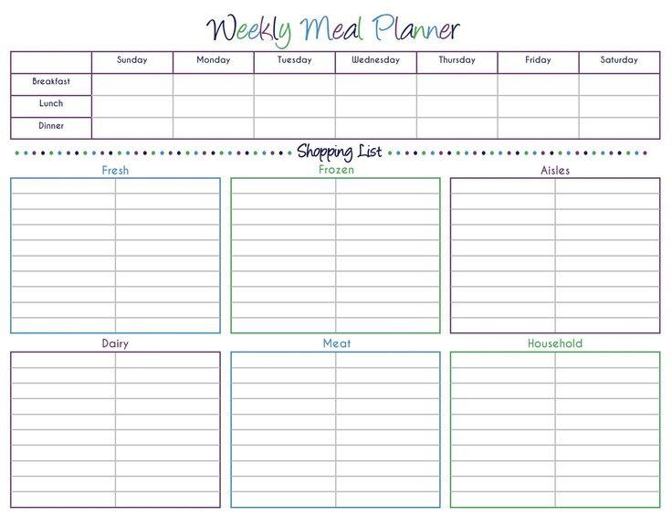 Printable Blank Grocery List Grocery List Template Printable
