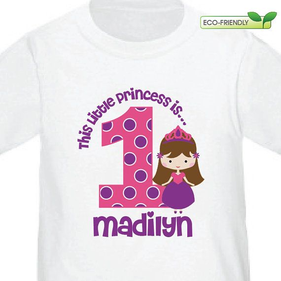 3e17f915c3d37 Princess Birthday Shirt -- Personalized with Name, Child's Age ...