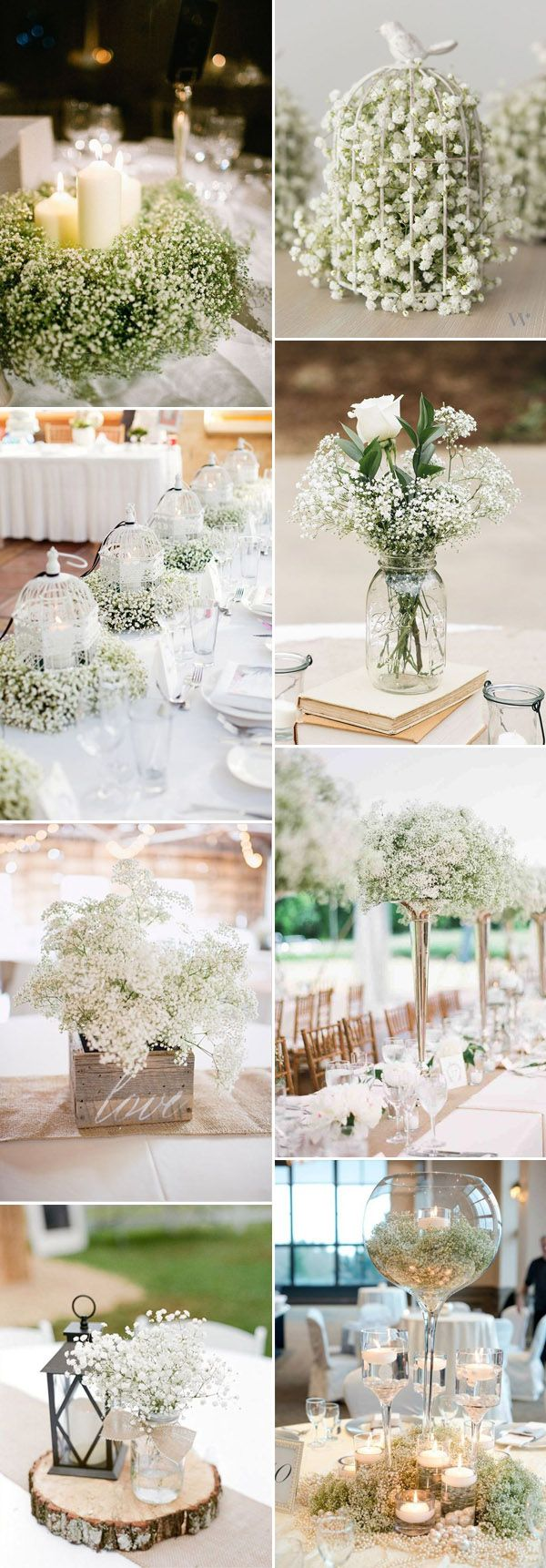 Save Your Budget on Weddings with 45 Baby\'s Breath Ideas | Wedding ...