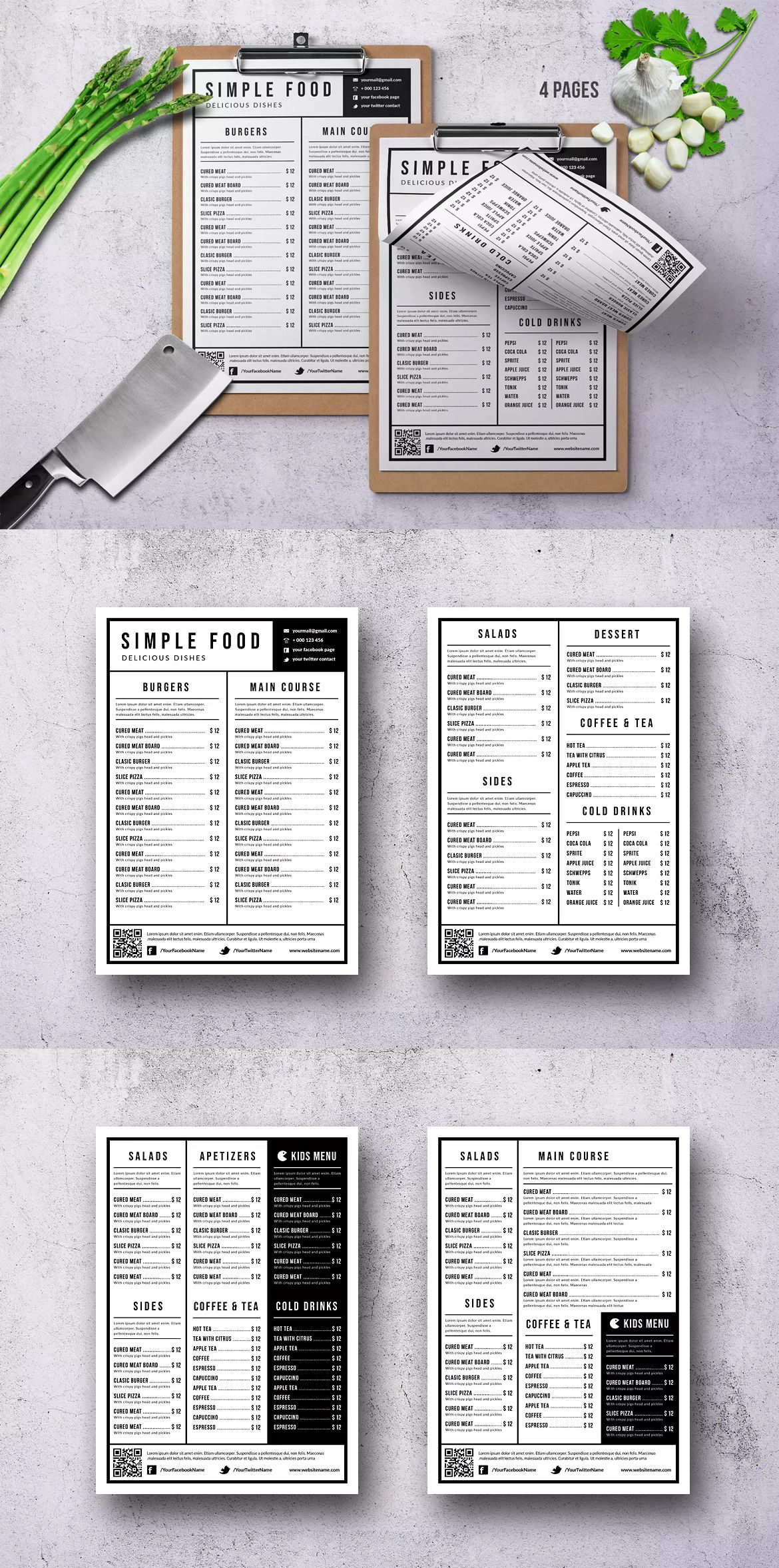 pin by awesome graphic design on food menu templates pinterest