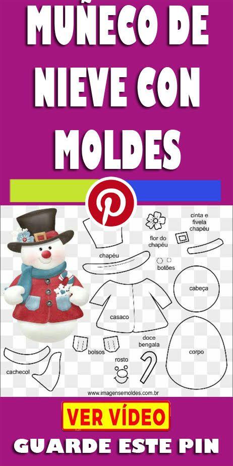Como crear muñeco de nieve con moldes