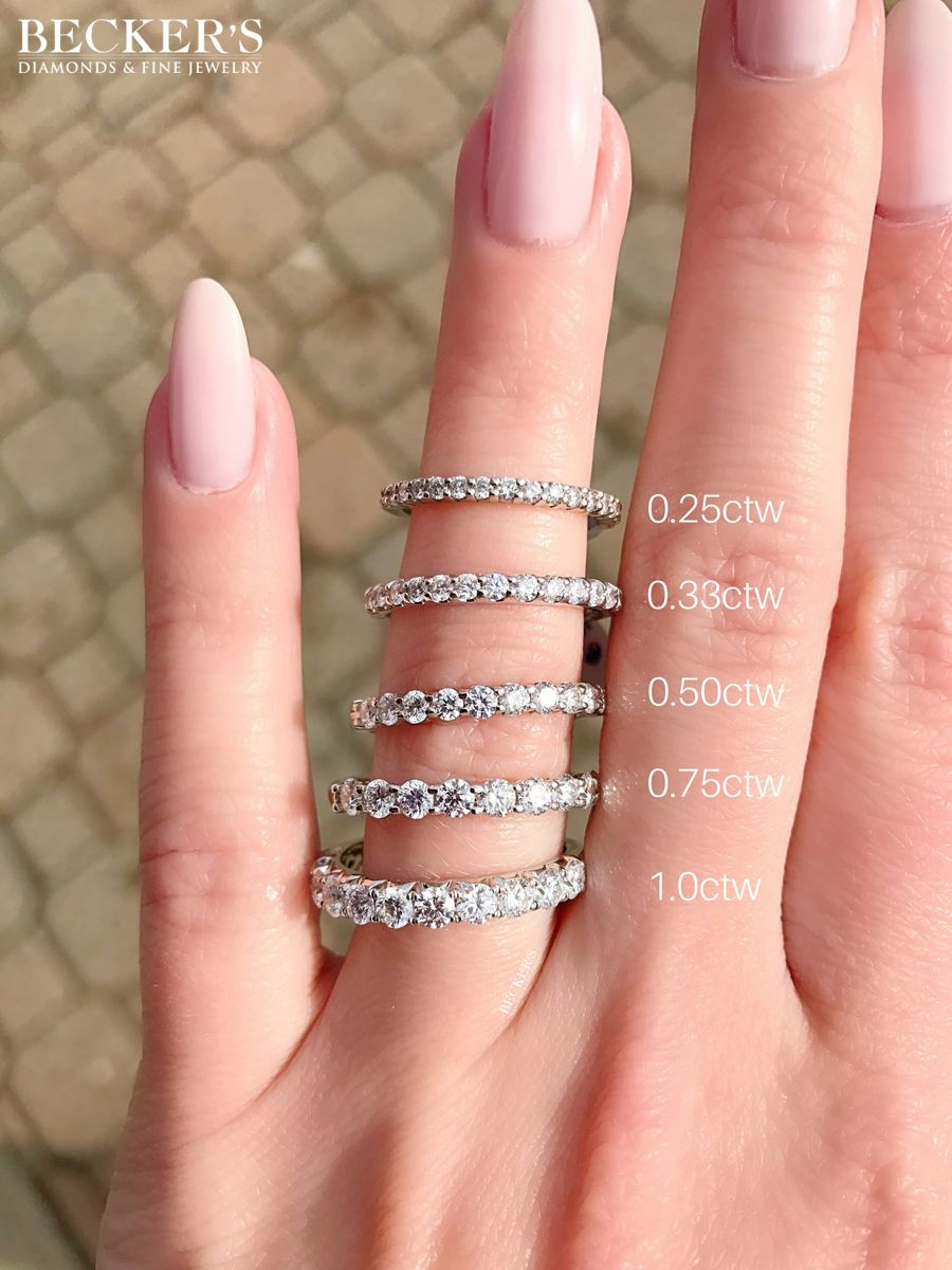 Shared Prong Diamond Bands In All Different Sizes Which One Is Your Favorite Diamond Wedding Bands Diamond Infinity Wedding Band Shared Prong Wedding Band