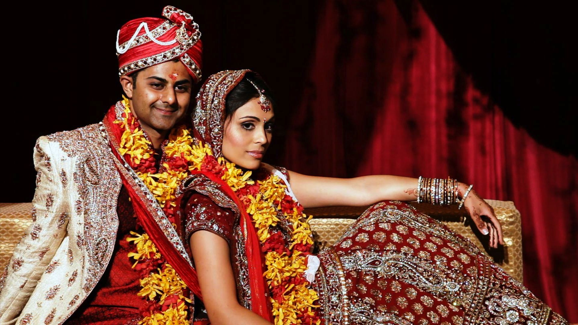 Chicago Bollywood Indian Wedding Couple poses for Cinematographer