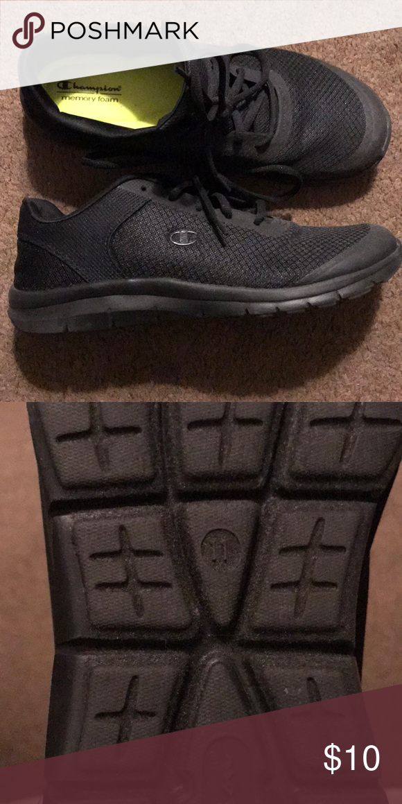 57e0685e8f1 Champion memory foam sneakers - Black 11 Worn once. Great condition!  Perfect for comfort every day wear. Champion Shoes Sneakers