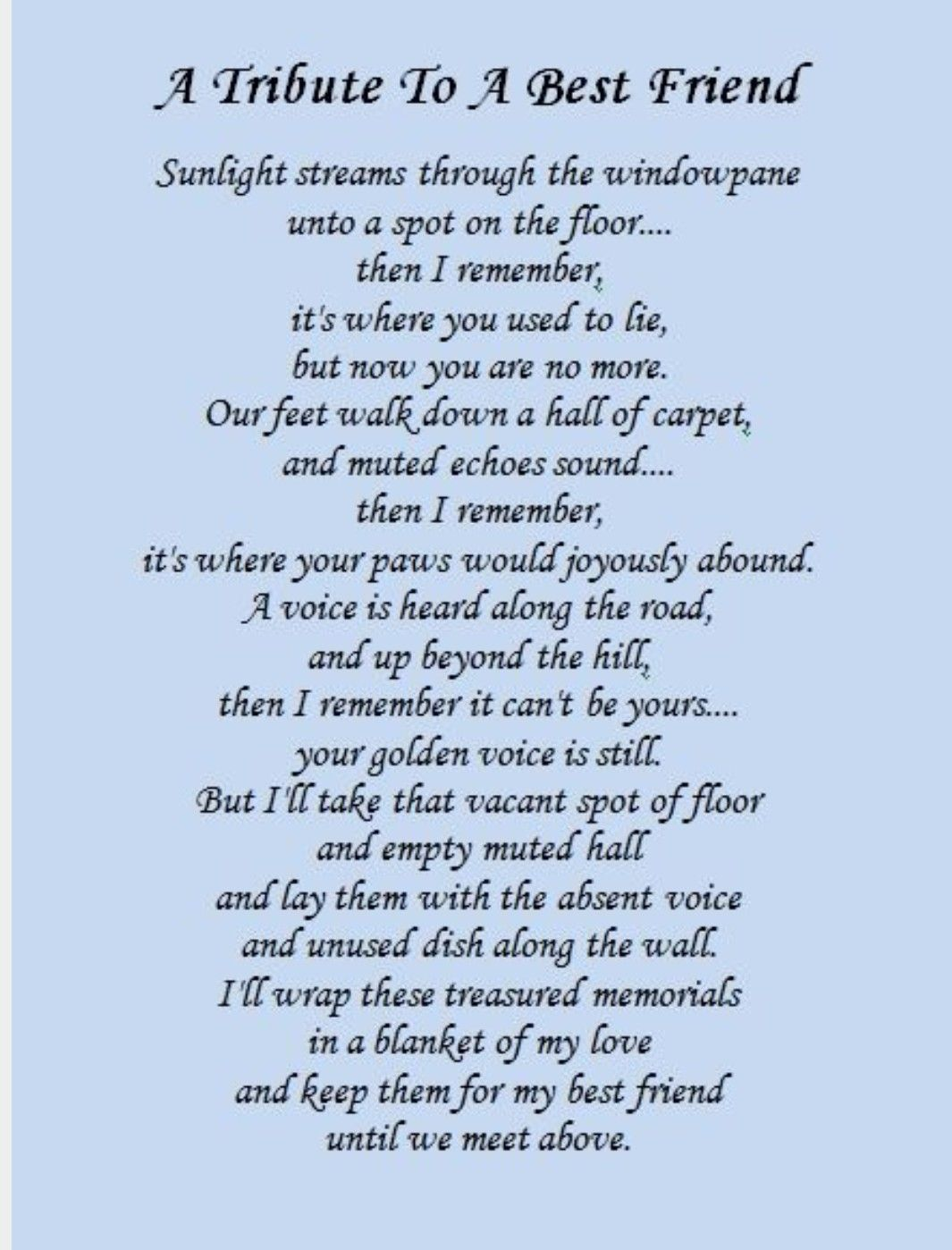 Memorial Poems For Friends 7
