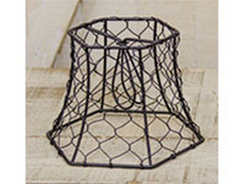 CWI Chicken Wire Hex Lampshade GCLE30398A CWI Chicken