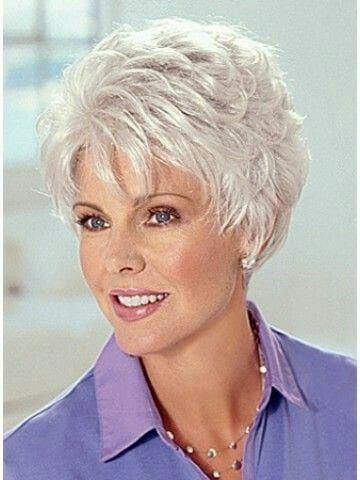 pinshirley dilworth on me  short grey hair grey hair
