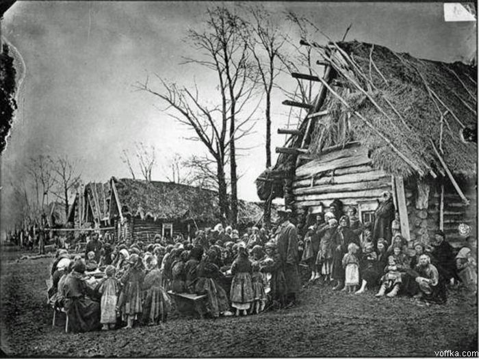 People's canteen in village Pralevka, 1891-92.