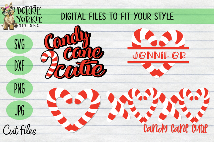 Candy Cane BUNDLE, Name, Heart, Cutie Christmas, Xmas