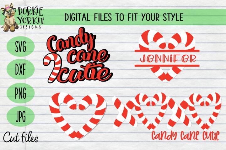 Candy Cane BUNDLE, Name, Heart, Cutie Christmas, Xmas