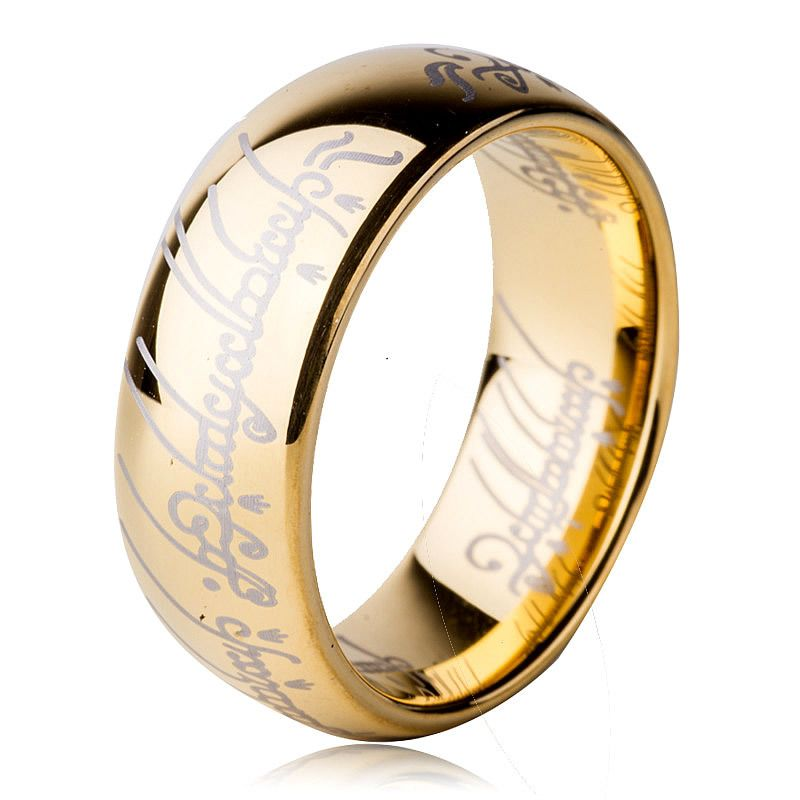 8mm Tungsten Lord Of The Ring Men Tungsten Ring Wedding Band Couples Ring Tungsten Mens Rings One Ring Tungsten Wedding Bands