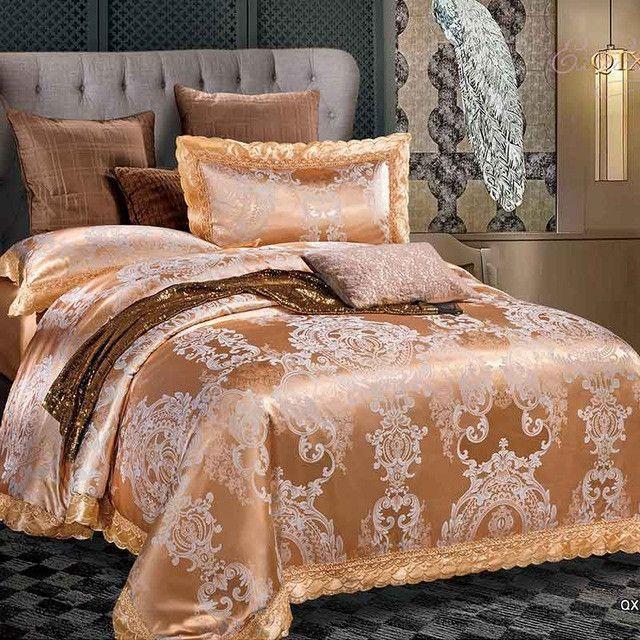Popular Designer Bedding Sets Luxury Bedding Set Jacquard Bedding Sets Bed Sheet DesignerBedSheets LuxuryBedding - Elegant luxury king bedding Idea