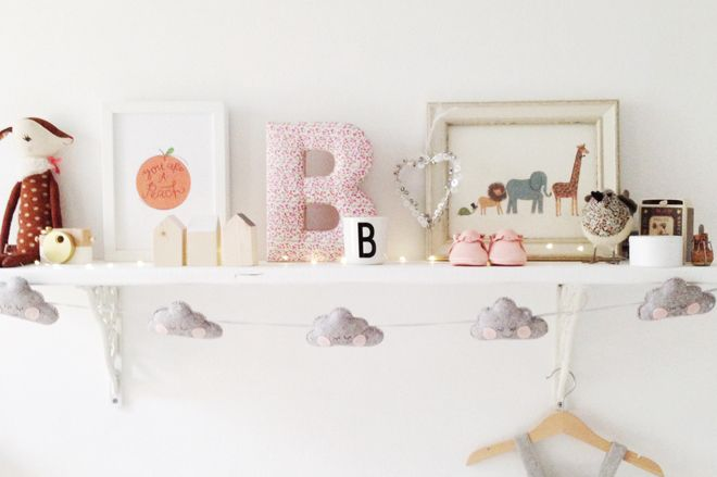 Velveteen Babies 'Cloud' Garland for children's rooms, published by Bobby Rabbit
