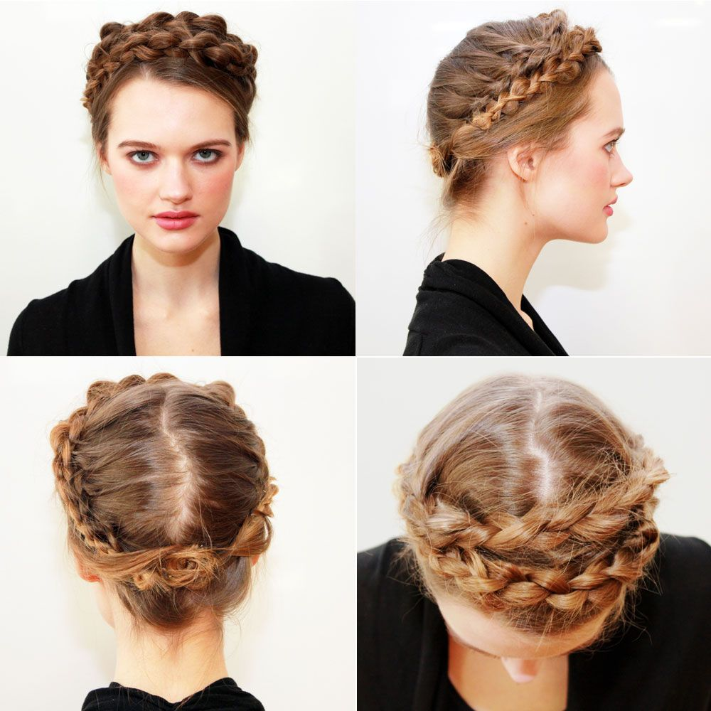 How To Scandinavian Braided Crown From 2014 Fall Winter Nyfw
