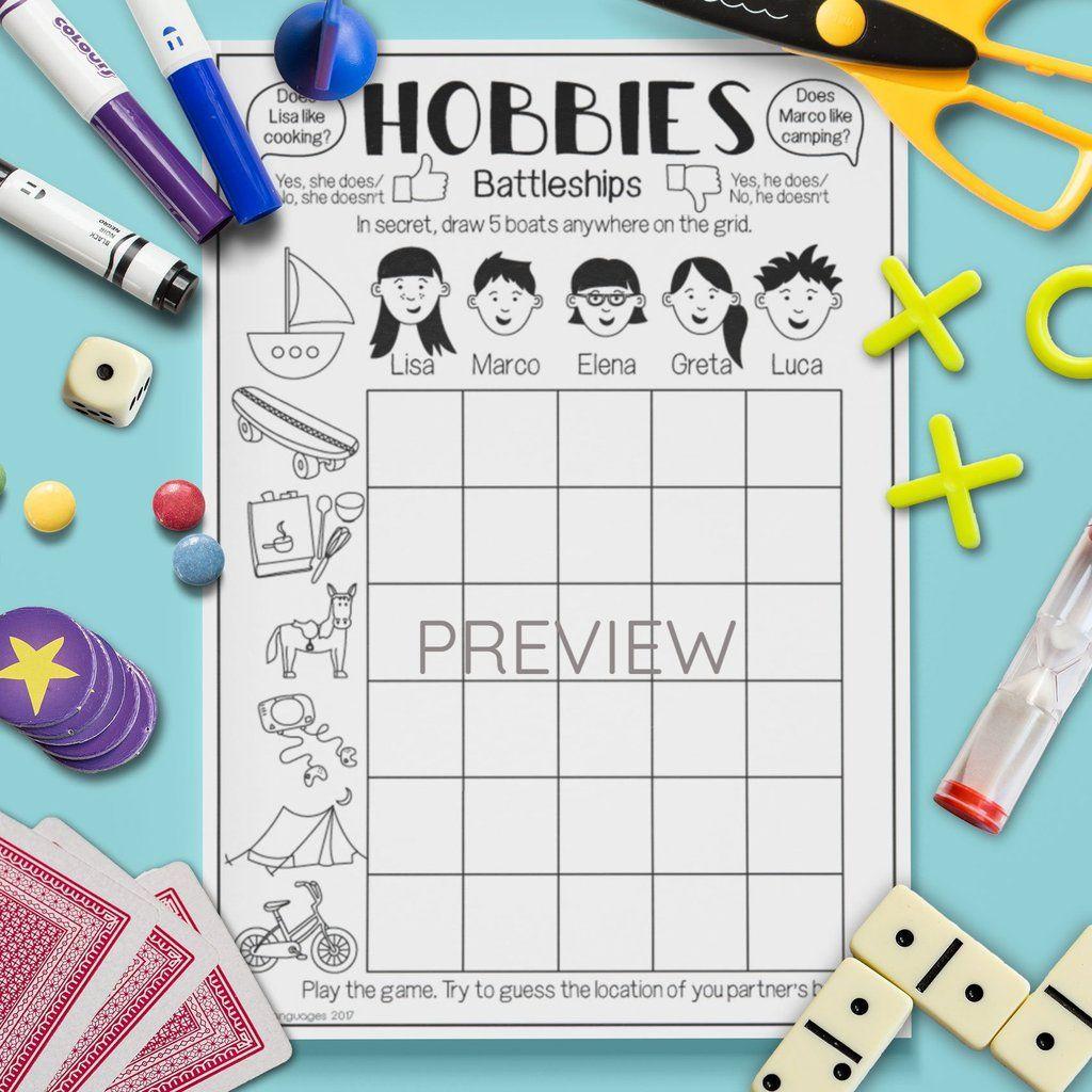 Hobbies Question Battleships Game