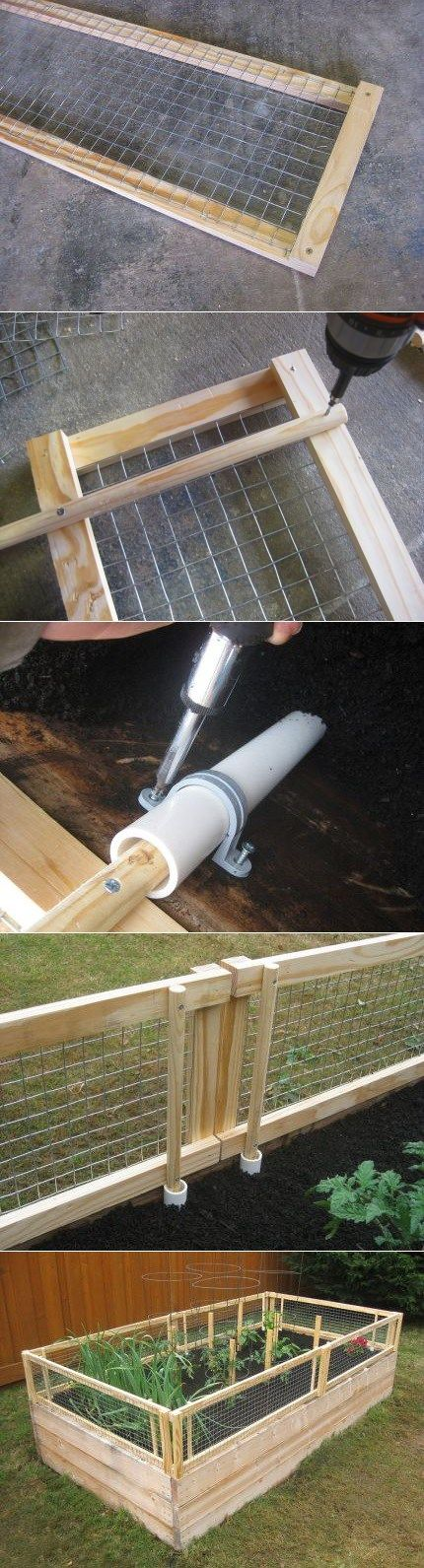 Removable Raised garden Bed Fence Rabbit ideas Pinterest