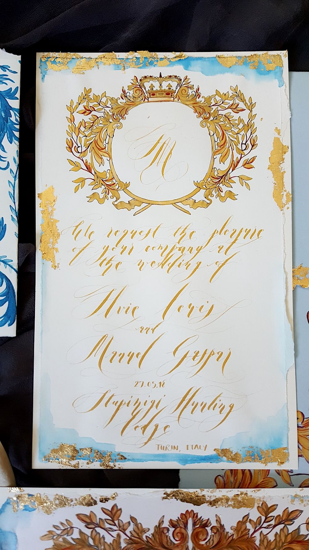 Planning An Italian Wedding These Classical Hand Painted Wedding