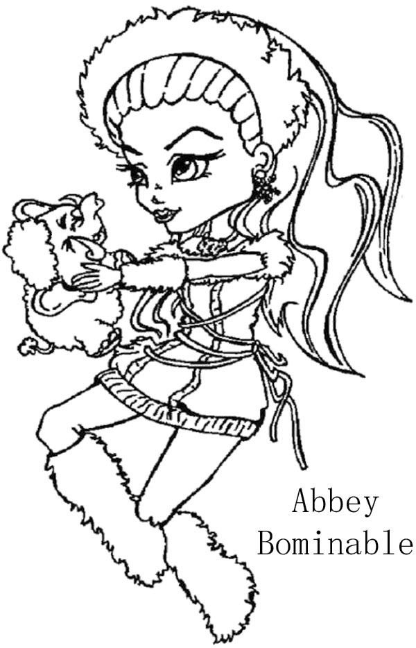 monster high abbey bominable coloring page