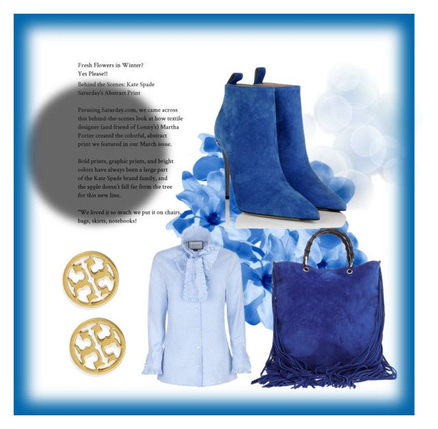 """""""Blue"""" by ernestine-jordan on Polyvore featuring Gucci and Tory Burch"""