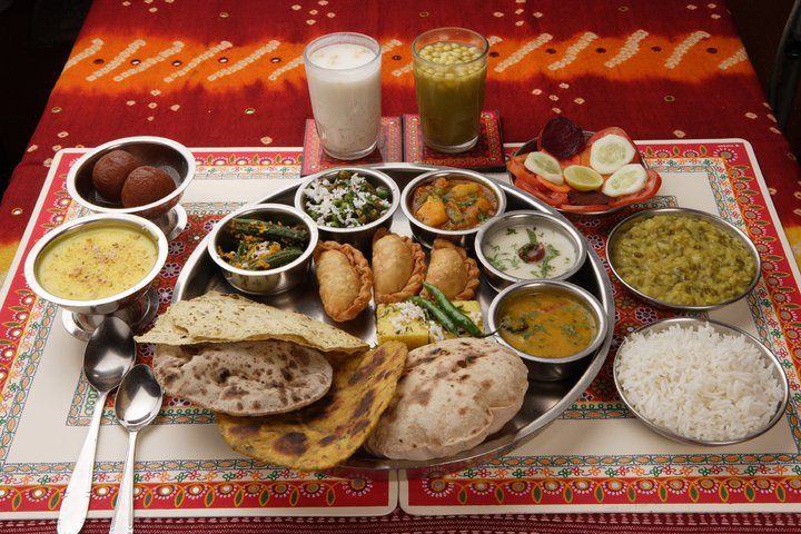 thali a large plate with various indian food with 22 464 delicacies from the states of gujarat and rajasthan alone the possibilities of indian food are