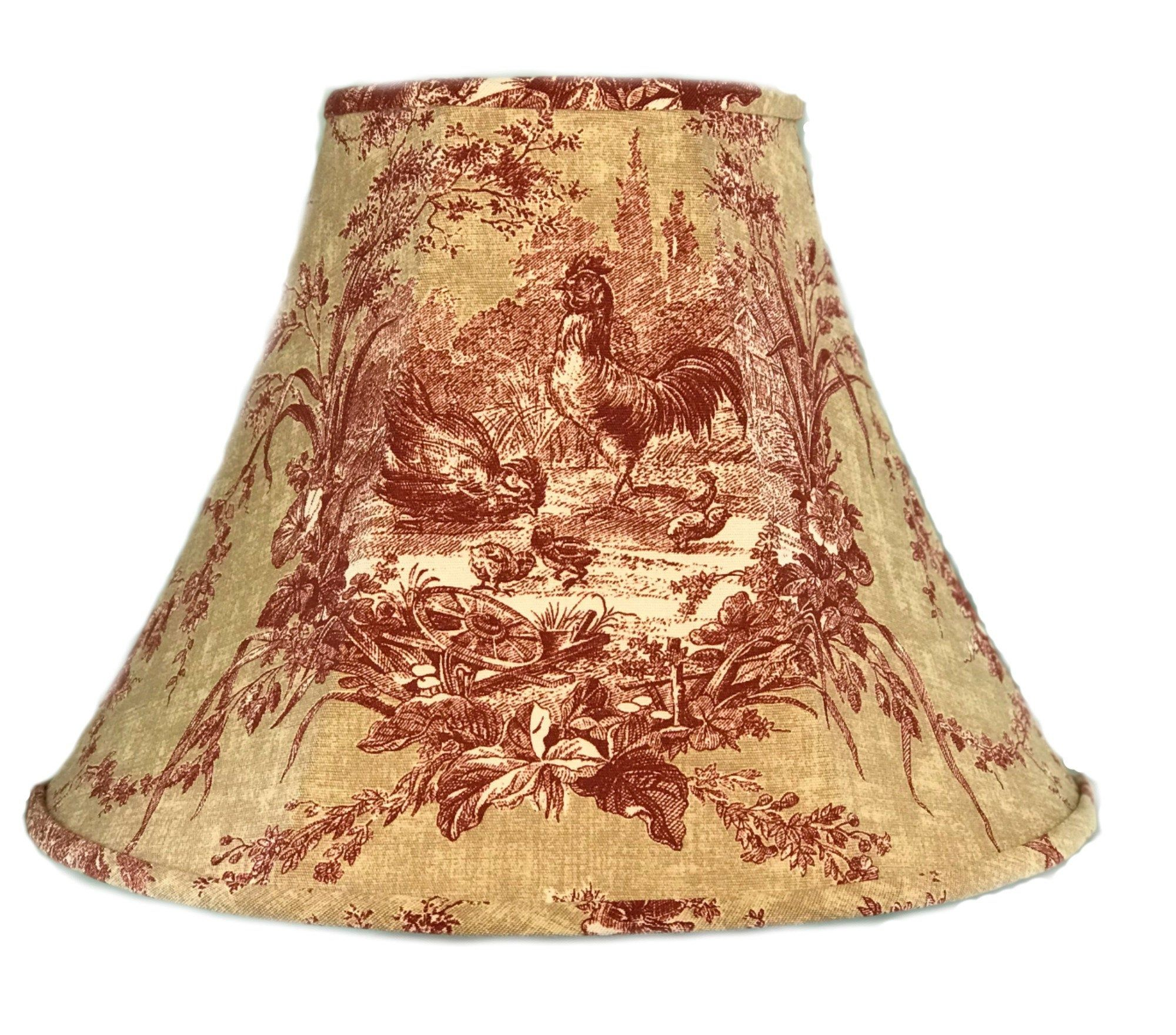 Toile Lamp Shade Red Toile Lamp French Country Lamp Shade French Toile Lamp Shade Shabby Chic Lamp Sh Shabby Chic Lamp Shades Toile Lamp French Lamp Shades