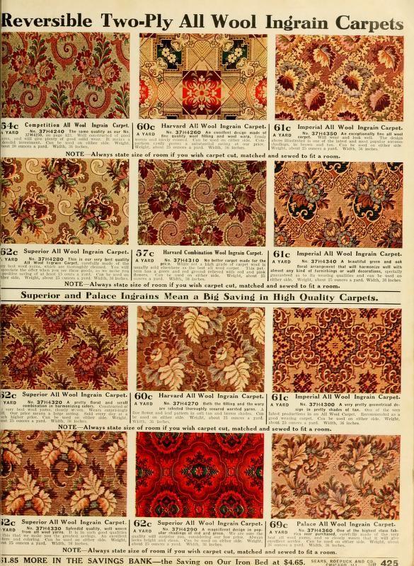 Sears Catalogue 1912 Carpets