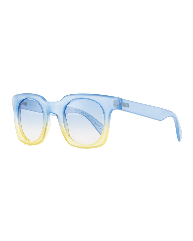 d33ca75a8dc Bicolor Translucent Square Sunglasses