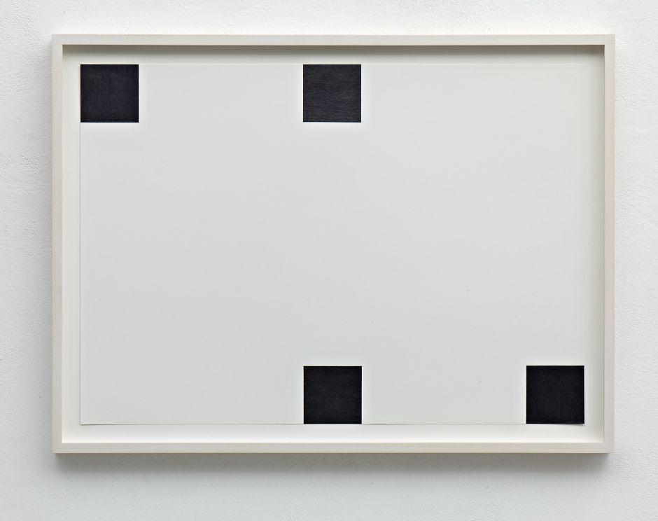 Frank Gerritz, Four Center Connection, 2014, Bleistift auf Papier, 42 x 58,8 cm