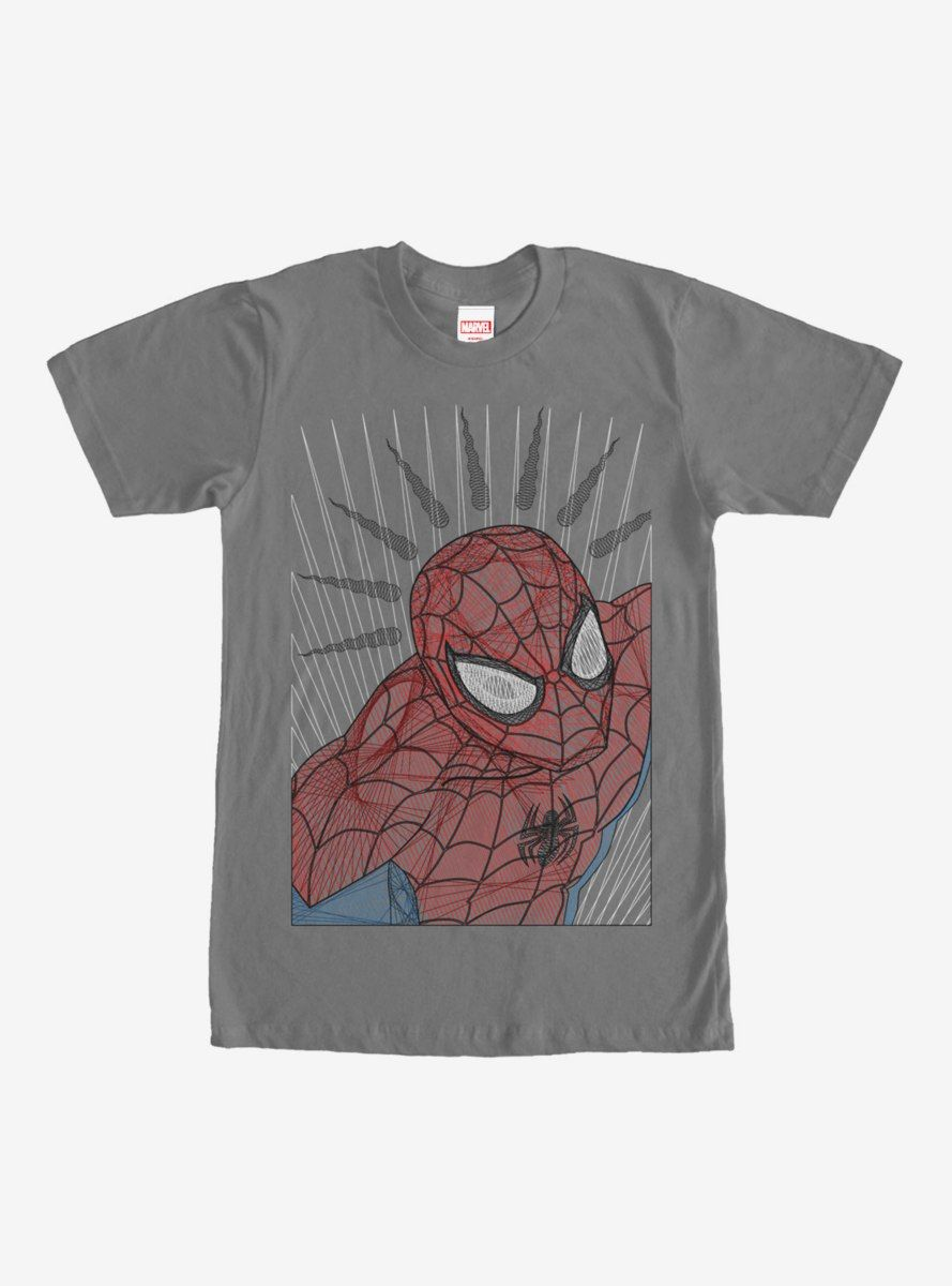 Marvel Spiderman Poly T-Shirt Uomo
