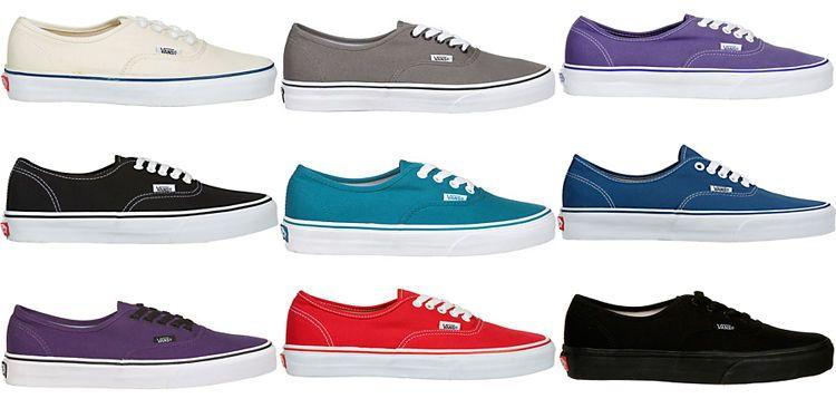 vans authentic all colors