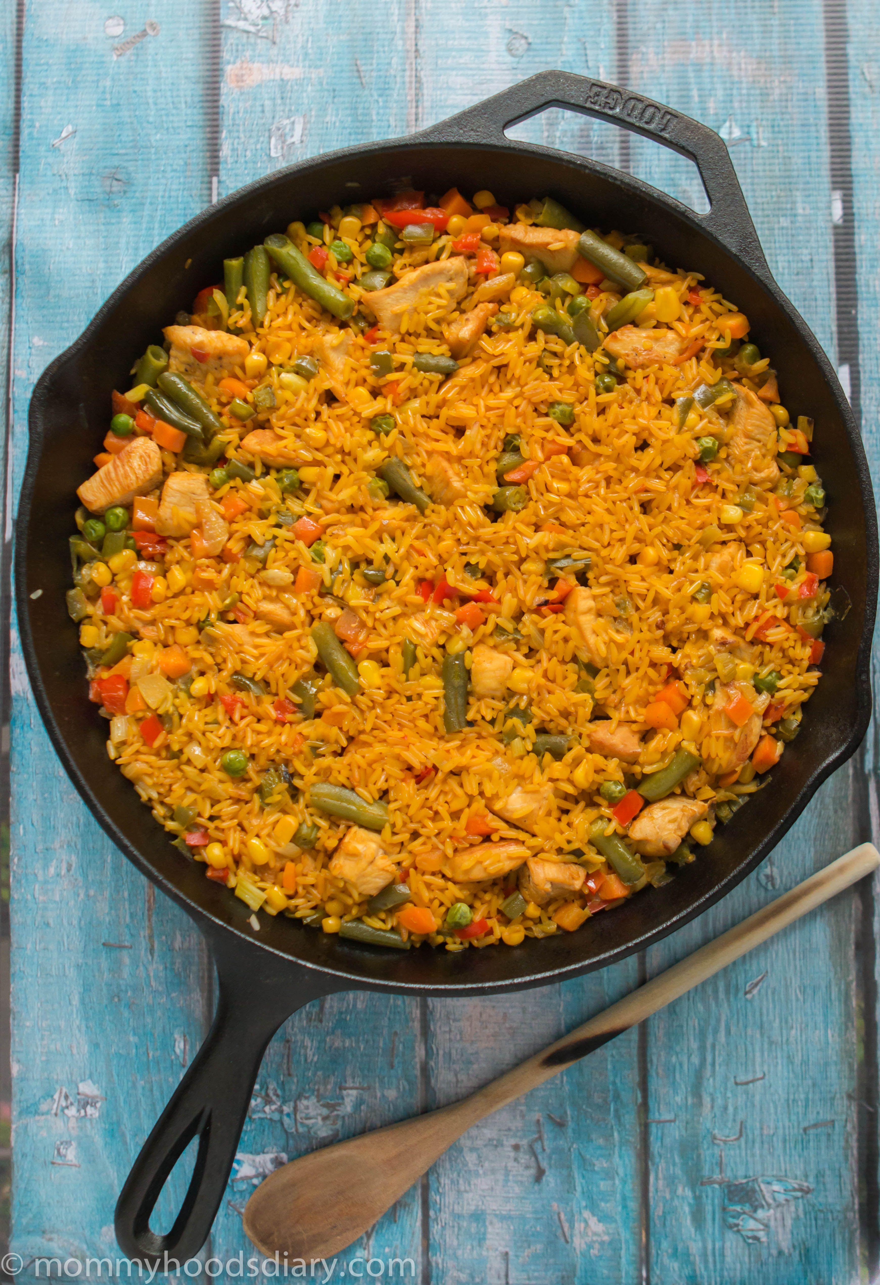 Chicken With Rice Spanish Style Arroz Con Pollo Recipe