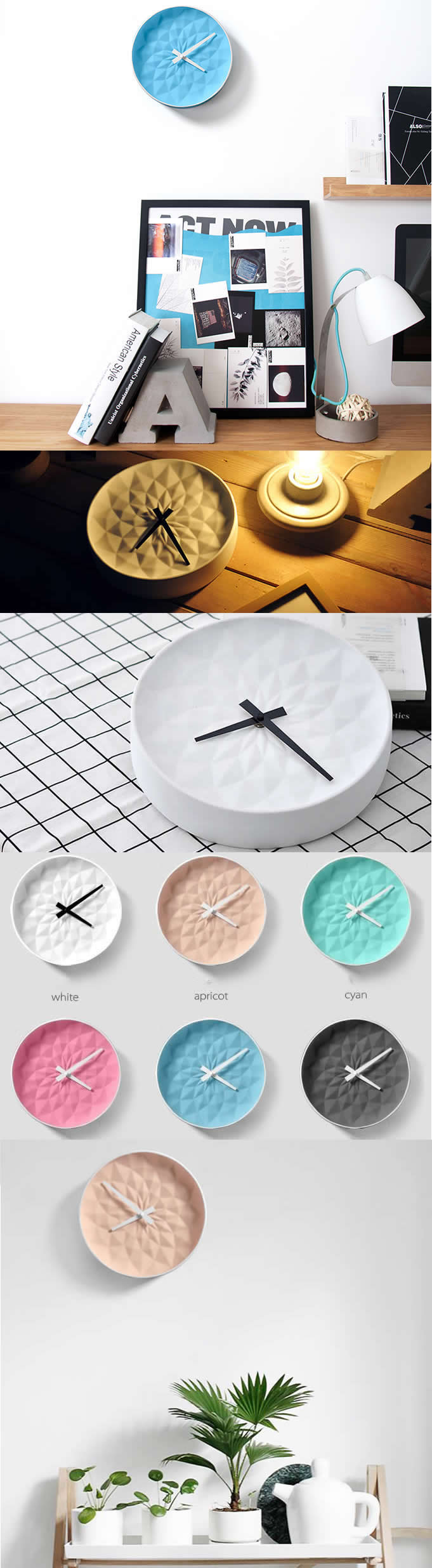 Ceramic Clockhandmade Ceramic Wall Clock In An Art Deco Style