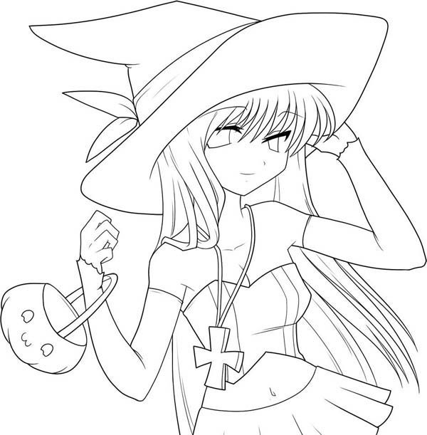 Anime Coloring Pages Cute Coloring Pages Witch Coloring Pages