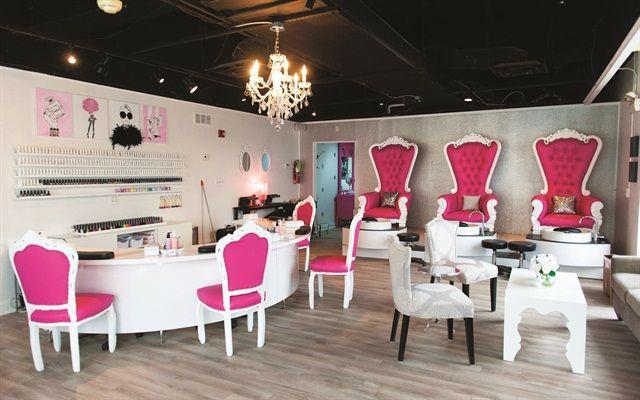Pin On White And Fuchsia Nail Spa Salon Boutique