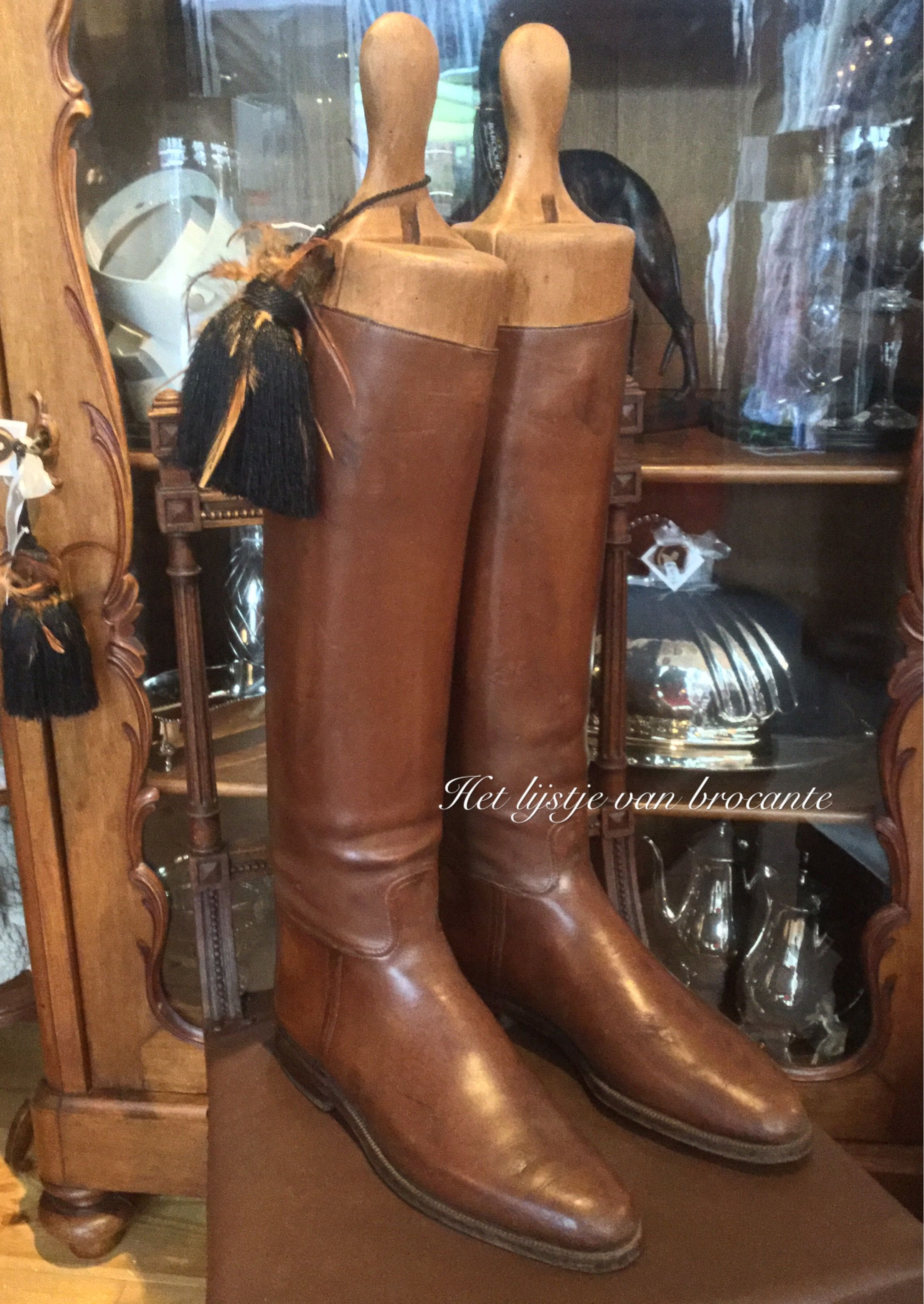 English Riding Boots For Sale In My Shop By Silvia Hokke Rijlaars Laarzen Antiek