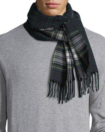 N516R Burberry Men s Wool Vintage Check Scarf 3c035cb0989