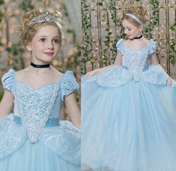 Cinderella Disney Inspired Princess Gown Tutu Dress by EllaDynae, $270.00